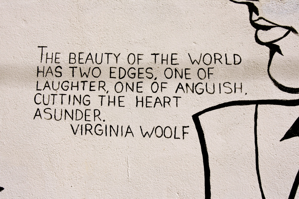 Virginia on a wall